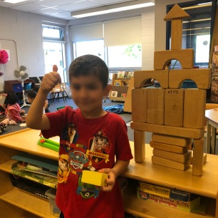 Wow! Look at Jalal's tower that he built all on his own!